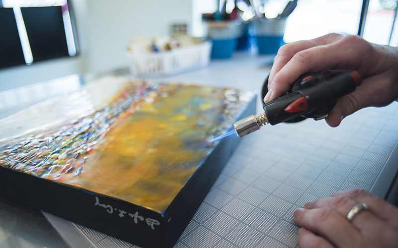 Encaustic Painting with Torch